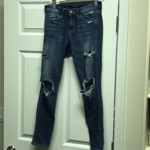 Joes jeans low waist skinny ankle jeans